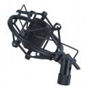 Supporto antivibrazione con doppia molla elastica e guaina protettiva per microfono a condensatore